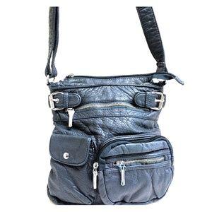 Gray crossbody purse ? leather ?